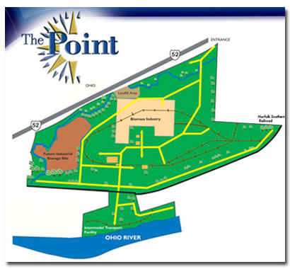 Map showing the Point Industrial Park